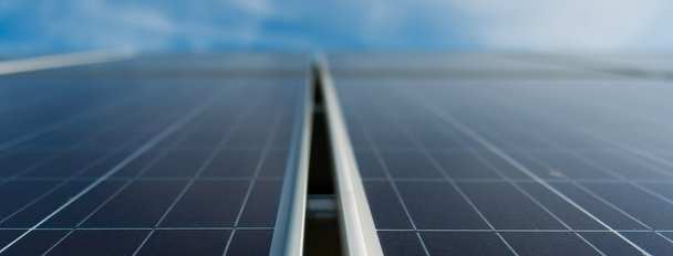 Close-Up-Two-Solar-Panels-And-Sky-H