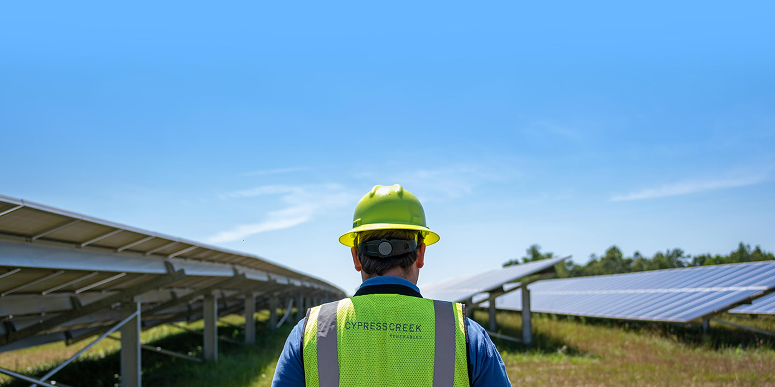 Cypress Creek Operations Employee At North Carolina Solar Farm
