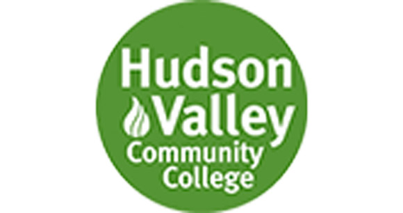 Green and white Hudson Valley Community College logo
