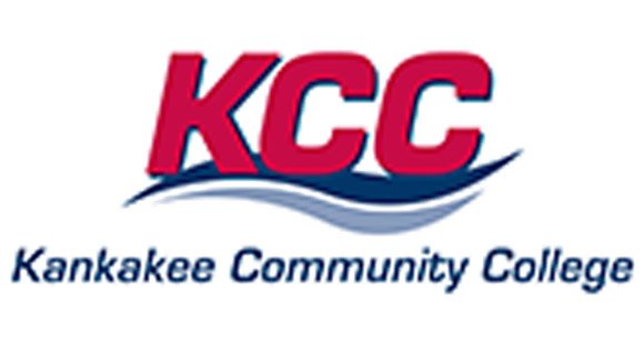 Red and blue Kankakee Community College Logo