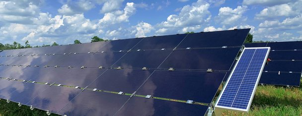 Solar panels and sky in South Carolina