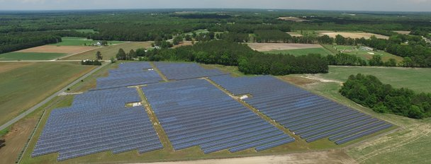 Cypress Creek solar facility in Asheville, North Carolina